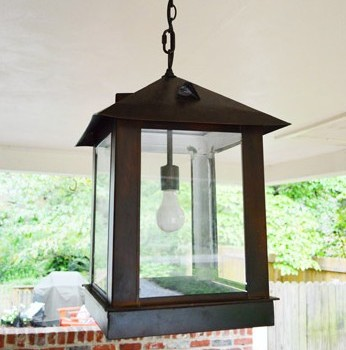 Replacing An Exterior Light With An Oversized Lantern