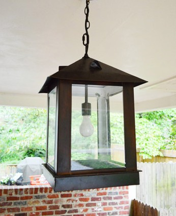 Replacing An Exterior Light With An Oversized Lantern