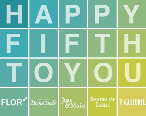 Fab Freebie: Happy Fifth To You