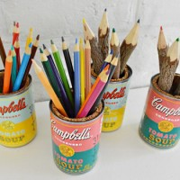 Turning Soup Cans Into Sweet Pop Art Pencil Caddies