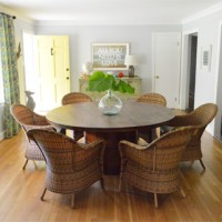 Some Rustic Woven Chairs For The Dining Room