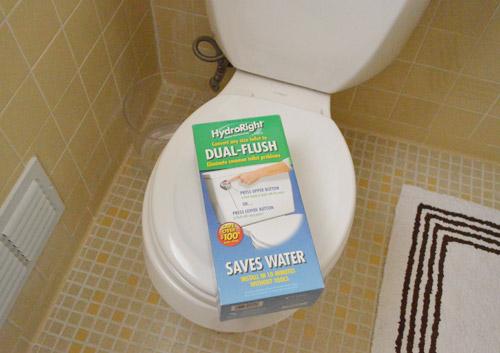 Installing A Dual Flush Toilet Kit & Hiding Our Shredder