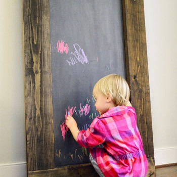 Fall Pinterest Challenge: Making A Large Leaning Chalkboard
