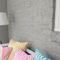 How To Paint A Brick Wall And Unify A Choppy Room