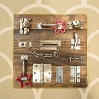 Last Minute Homemade Present: A DIY Latch Board For Kids