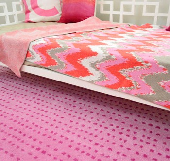A Fun Pink Polka Dot Rug For The Playroom
