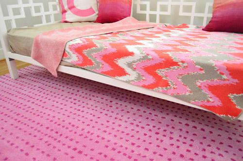 A Fun Pink Polka Dot Rug For The Playroom