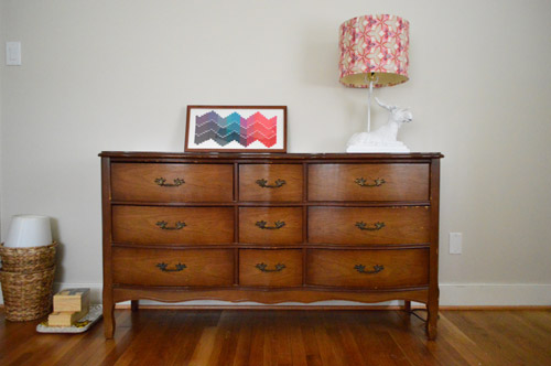 Adding A Secondhand Dresser & A Moose Lamp