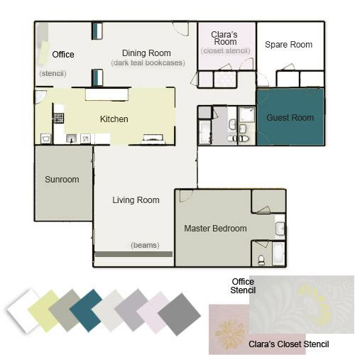 Our Whole House Color Palette