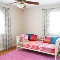 Making No Sew Ikat Curtains For A Kids Room