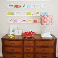 Small Wall Ledges For Flash Cards, Postcards Or Books