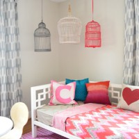 Hanging Decorative Birdcages In A Kids Room