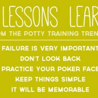 Lessons From The Potty Training Trenches