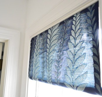 Making A Fabric Shade and Frosting A Window
