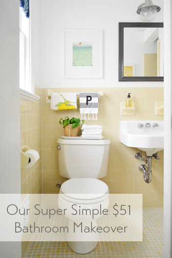 our super simple cheap bathroom makeover - Cheap Bathroom Makeover