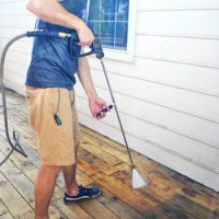Using A Power Washer To Clean Wood, Brick, And Cement