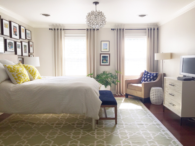 bedroom with hope philodendron plant for easy care