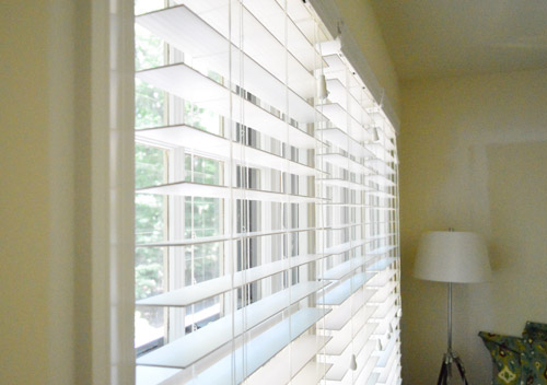 Installing White Faux Wood Window Blinds