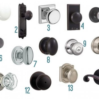 Fourteen New Interior Door Knob Options