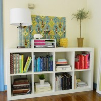 A Little Office Organization (& Sorting Books By Color)