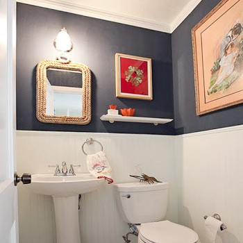 Reader Redesign: Bathroom Red, White & Blues
