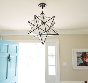Hanging A Moravian Star Light In The Foyer