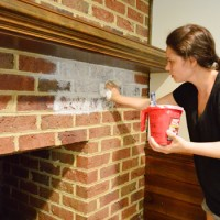 How To Whitewash A Brick Wall Or Fireplace