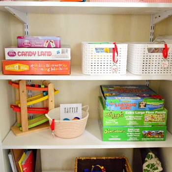 Converting An Extra Coat Closet Into Organized Toy Storage