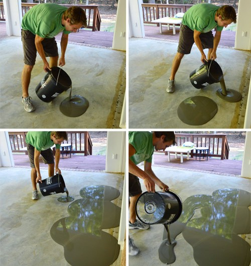 Leveling and Dry Fitting Tile In An Outdoor Area
