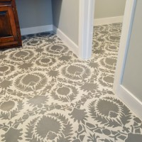 How To Stencil Your Subfloor