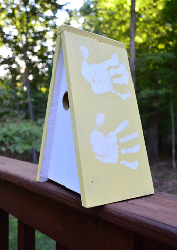 A Sweet Hand-Print Birdhouse For Granny