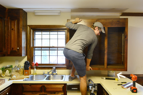 Removing Some Kitchen Cabinets & Rehanging One