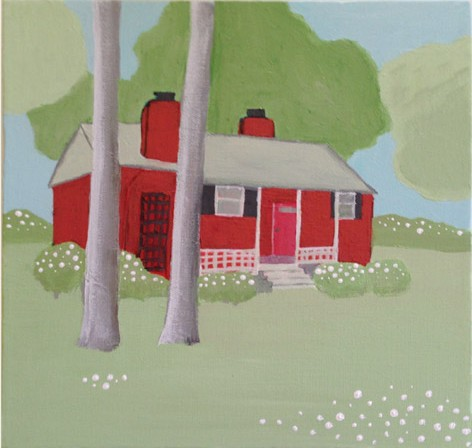 Weekly Crafty: Painting A Homemade House Portrait