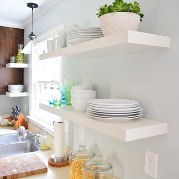 Hanging Ikea Floating Shelves In Our Kitchen