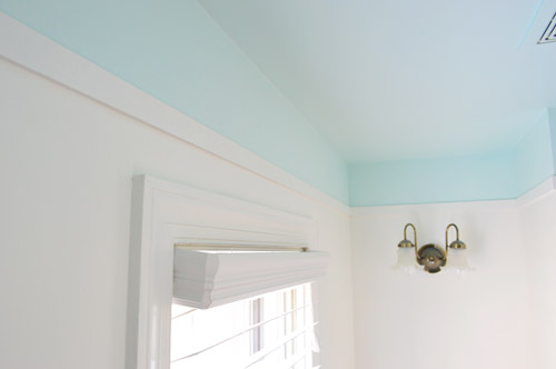 Adding Color And Trim To A Bathroom Ceiling