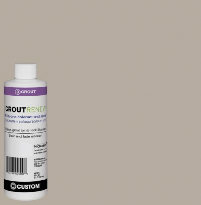 GroutRenew paint in Oyster Gray