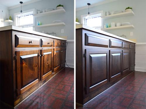 Using Polyshades To Darken Our Wood Cabinets
