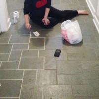 The Only Way We Got Our Stained Grout White Again
