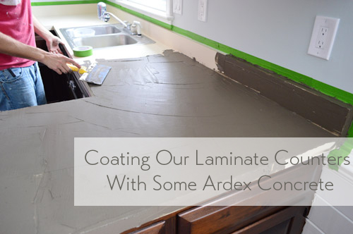 Trying Our Hand At Diy Ardex Concrete Counters Young House