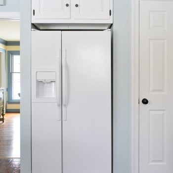 Using Appliance Paint To Upgrade A Refrigerator