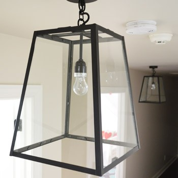 Three Oversized Lantern Lights For The Hallway