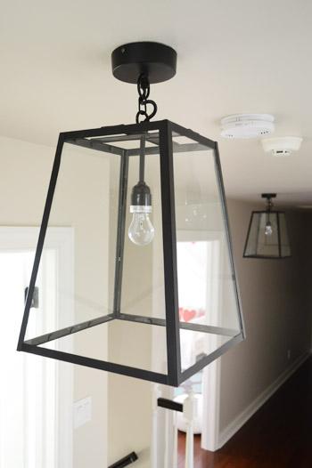 Three Oversized Lantern Lights For The Hallway
