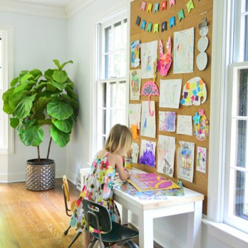 How To Make A Giant Cork Board Wall For Kid Art