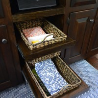 Adding DIYed Pull Out Basket Drawers In The Kitchen