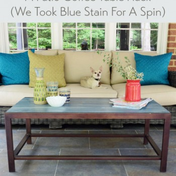 A Patio Coffee Table Hack (And Our New Sofa)
