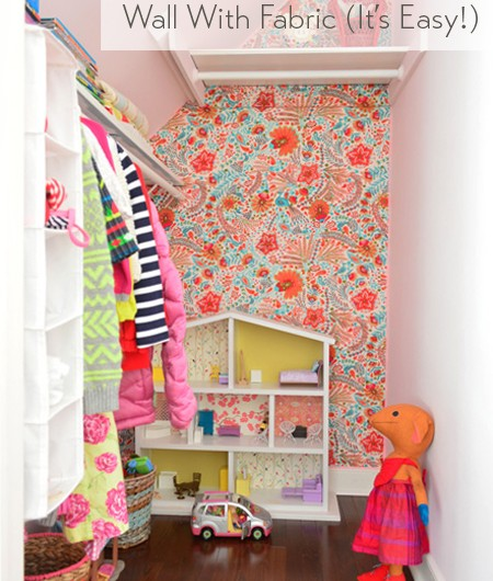 Wallflowers (aka: How To Cover A Wall With Fabric)
