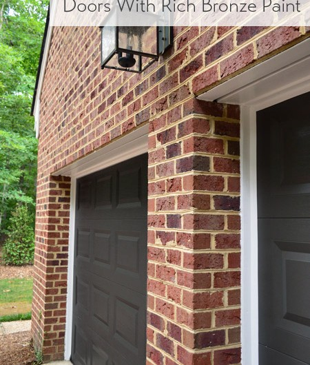 Painting Our Garage Doors A Richer, Deeper Color