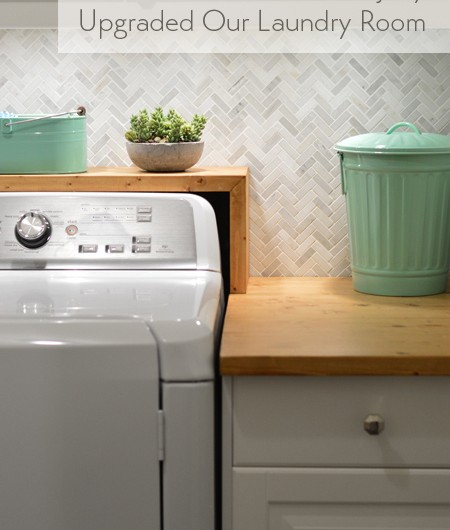 How To Install A Marble Herringbone Tile Backsplash In The Laundry Room