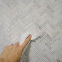 Installing A Herringbone Tile Backsplash – It's Like A Cable Knit Sweater On The Wall