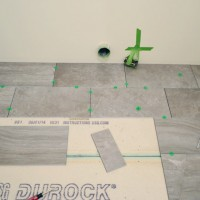 Laying Porcelain Tile In The Laundry Room